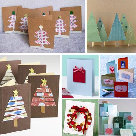 7 postales de navidad f ciles de hacer pequeocio - Como hacer una felicitacion de navidad original ...