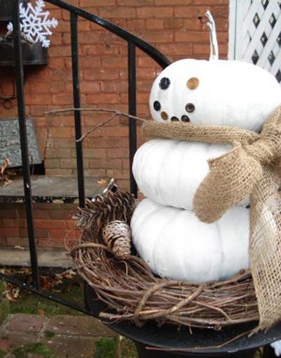 Nuestro primer muñeco de nieve reciclado 1