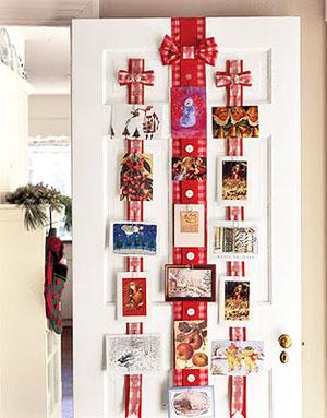 Tarjetas de Navidad puerta