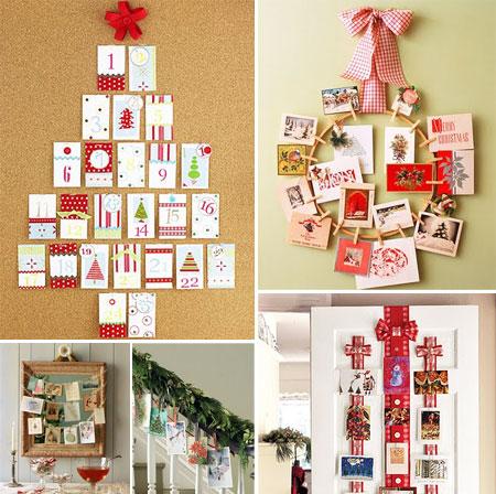 Decorar con tarjetas de navidad pequeocio - Decoracion adornos navidenos ...