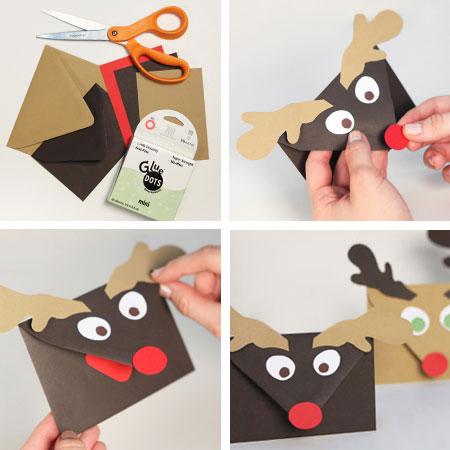 Sobres para las postales de navidad una manualidad for Crear tarjetas de navidad