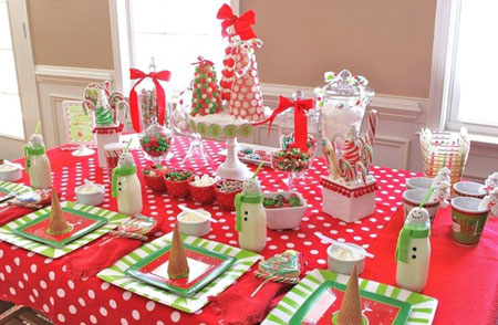 Decorar mesa navidad