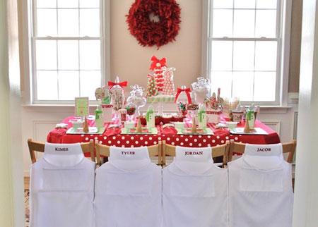Decorar las sillas de Navidad