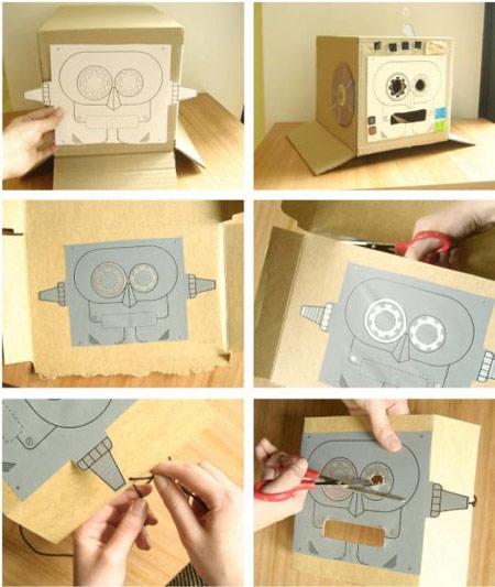 Disfraces caseros: Robot
