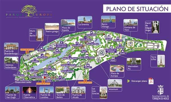 Parque Europa plano