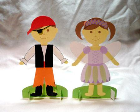 Recortables de muñecos