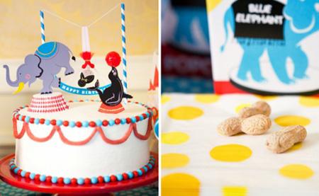 Tarta de cumpleaños circense