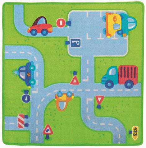 Decorar con alfombras infantiles - Alfombra carretera ...