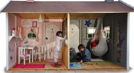 Casitas de madera infantiles green house pequeocio - Casita infantil madera ...