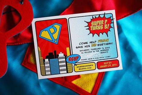 Invitación fiesta infantil superheroes