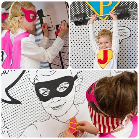 Juegos fiesta infantil superheroes