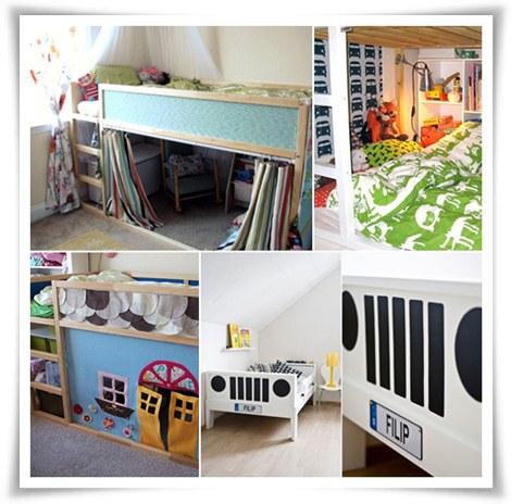 C mo personalizar una cama infantil de ikea pequeocio - Ikea habitaciones infantiles literas ...