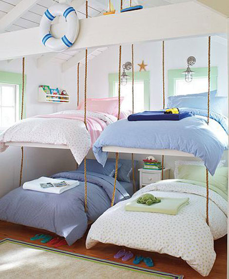 7 ejemplos de habitaciones infantiles compartidas pequeocio - Ideas pintar habitacion infantil ...