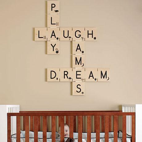 decorar las paredes con palabras cruzadas decoracion facil nios una original idea para