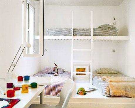 7 ejemplos de habitaciones infantiles compartidas pequeocio - Decorar habitaciones infantiles pequenas ...