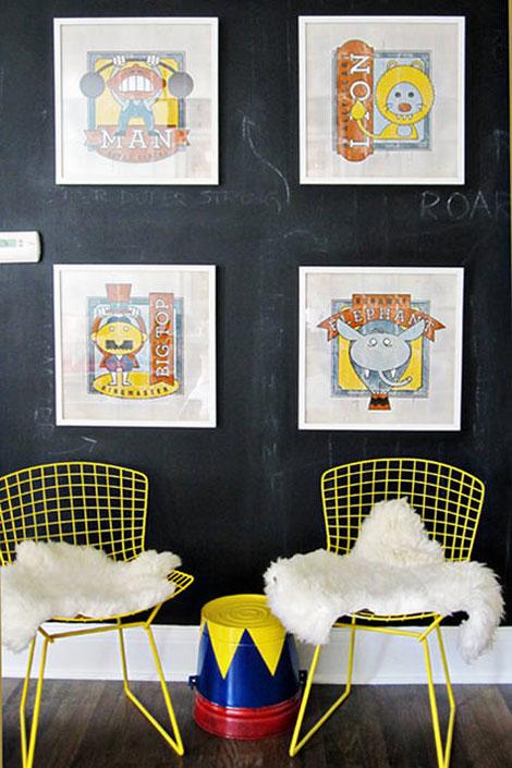 Habitaciones infantiles inspiradas en el circo - Habitaciones infantiles decoracion paredes ...