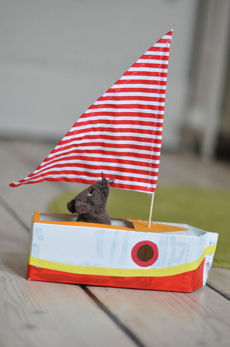 cómo hacer un barco de cartón de juguete pequeocio com