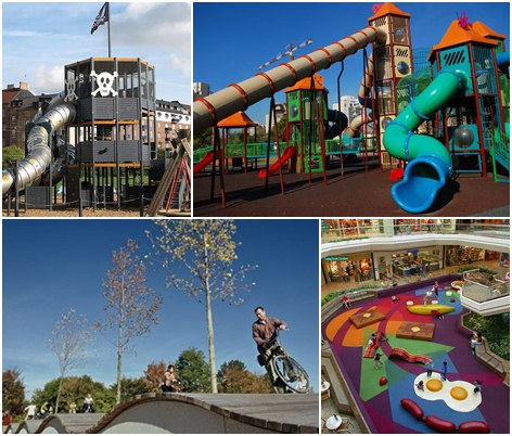 Los parques infantiles en espa a for Parques de barcelona