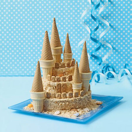 Tarta de cumpleaños castillo