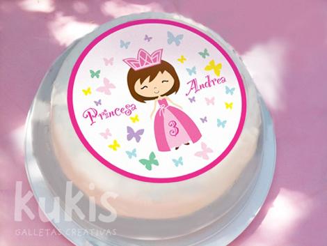 Decoración tartas princesas