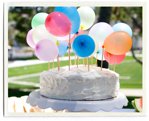 Decorar con globos tarta