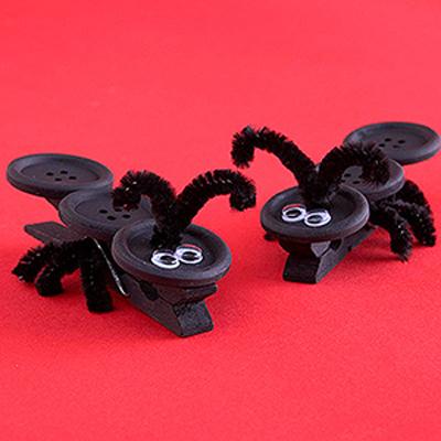 hormigas pinzas manualidades