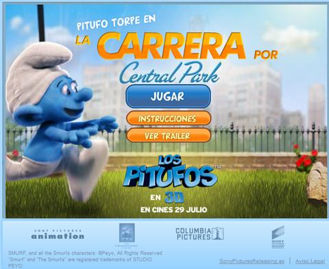 Juego online de Los Pitufos