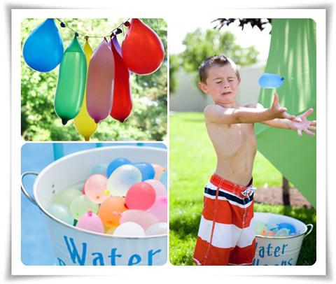 Juegos de varano globos de agua
