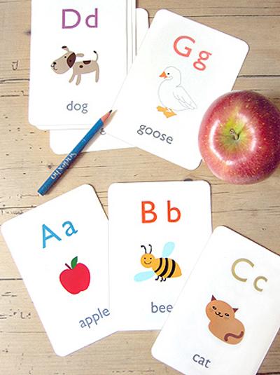 Tarjetas alfabeto ingles