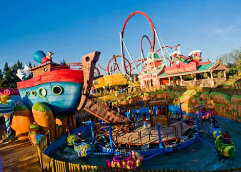 Juegos y espectáculos para niños en Port Aventura