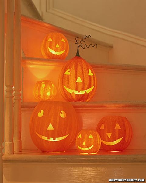 Calabazas de Halloween papel mache