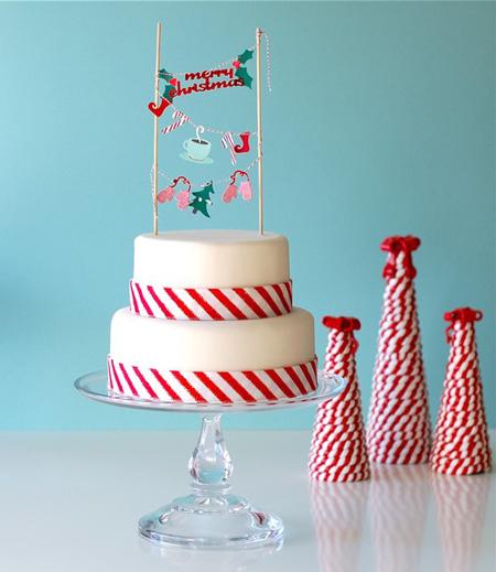 tarta navidad decorada