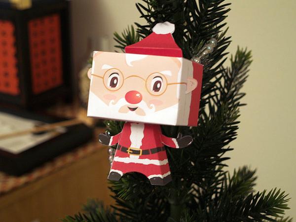 Adorno de navidad de pap noel pequeocio for Adornos originales para navidad