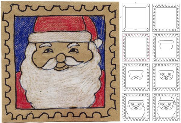 Dibujar Papá Noel