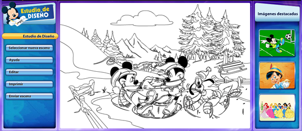 Disney dibujos para colorear