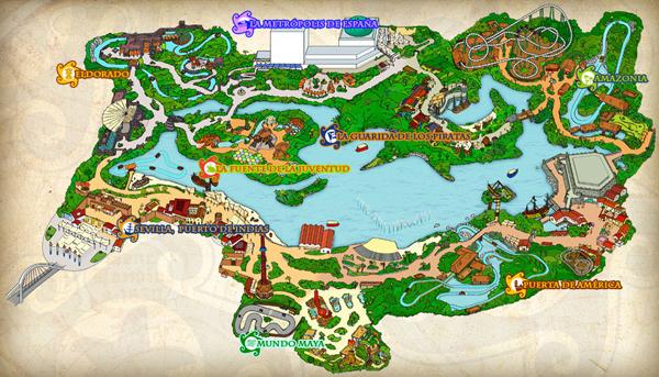 Isla mágica mapa