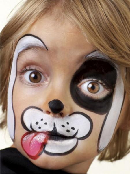 Maquillaje infantil paso a paso perrito for Pinturas de cara para halloween