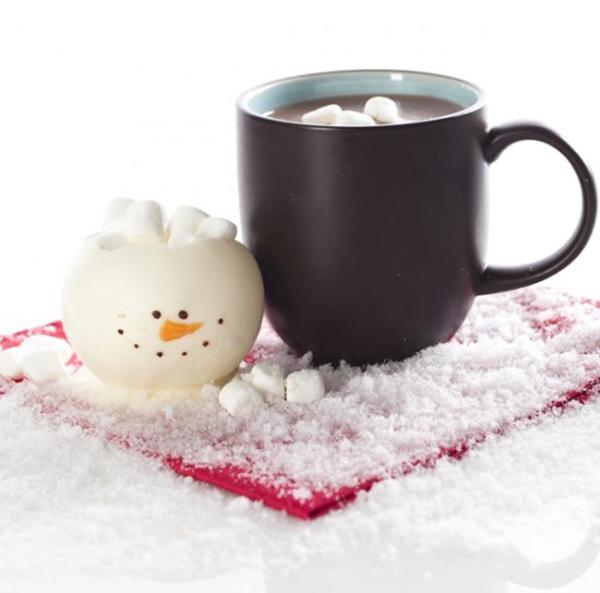 Muñeco de Navidad de chocolate