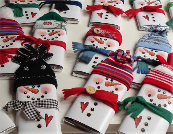 Regala Un Muneco De Nieve Pequeociocom - Ideas-para-regalar-en-navidad-manualidades