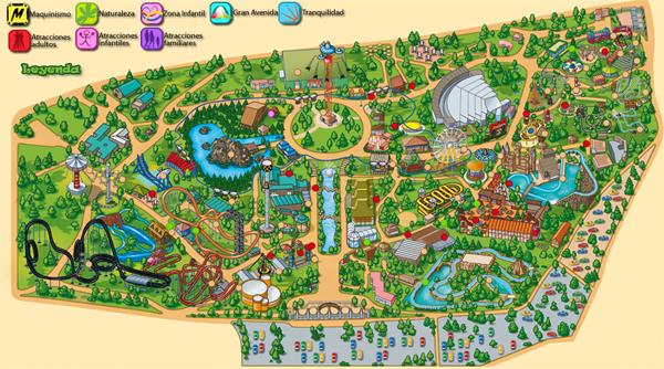 Parque de Atracciones Madrid mapa