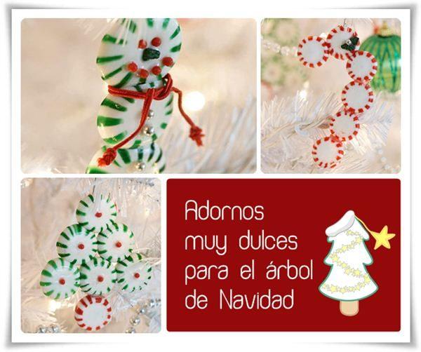 Adornos para el árbol de Navidad dulces