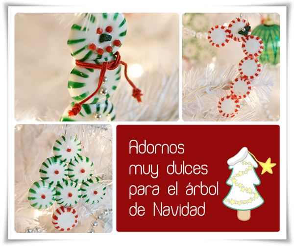 adornos para el rbol de navidad dulces