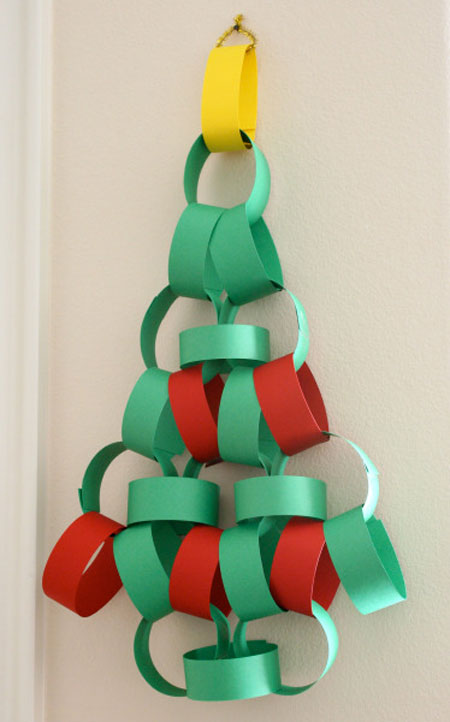 Arbol de Navidad de cartulina