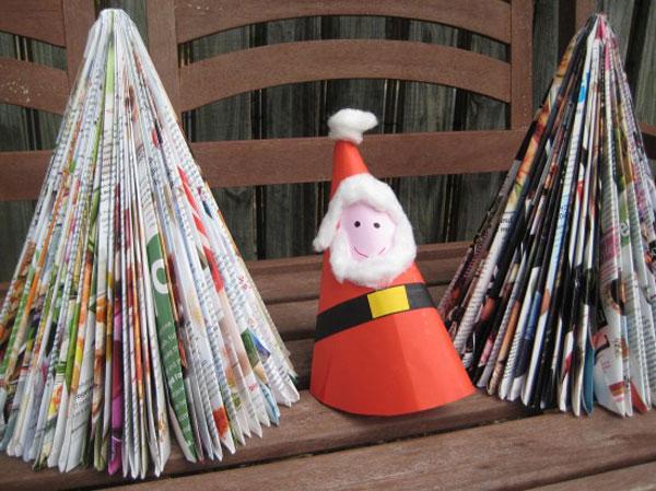 Arbol De Navidad De Papel Una Manualidad Muy Divertida Pequeociocom - Manualidad-arbol-navidad