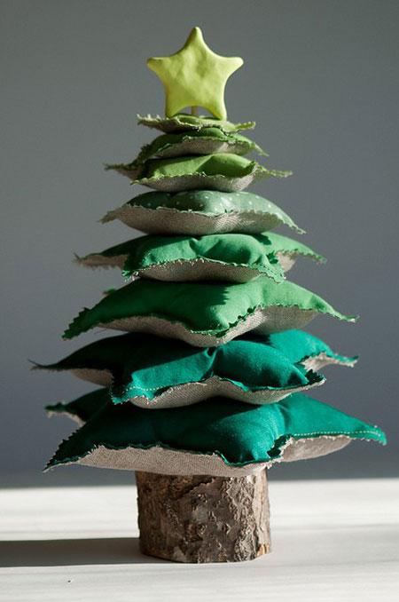 5 rboles de navidad originales pequeocio - Arbol de navidad de tela ...