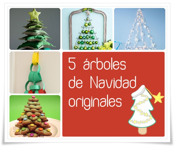 5 rboles de navidad originales for Ideas de decoracion baratas y originales