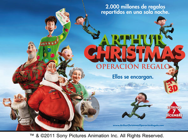 Arthur Christmas cine infantil