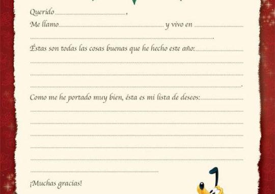 Carta a Papá Noel Disney