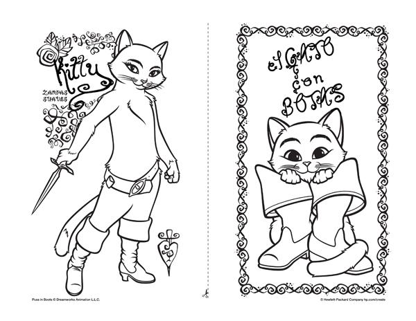 Dibujos el gato con botas