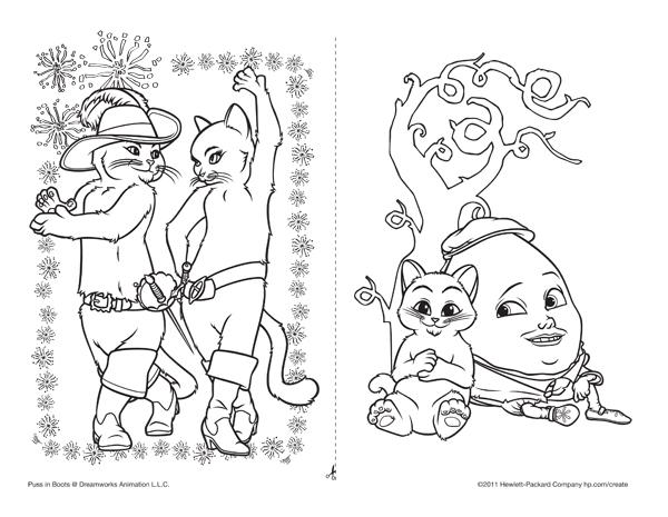 Dibujos Para Colorear De El Gato Con Botas Pequeociocom